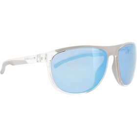 Red Bull SPECT Slide Lunettes de soleil, x'tal clear/smoke with ice blue mirror polarized